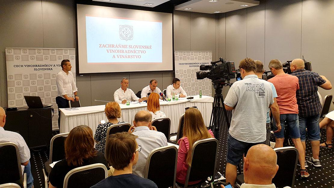 Tlačová konferencia - Cech vinohradníkov a vinárov Slovenska